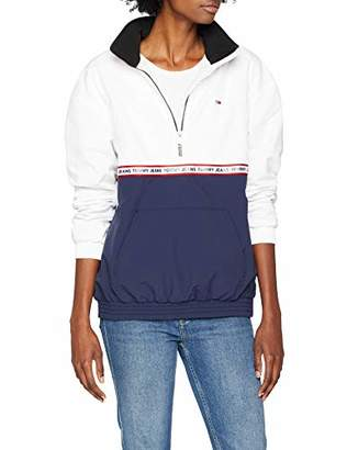 Tommy Jeans Women's Tape Detail Popover Waterproof Jacket,X-Small