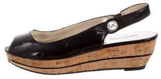 MICHAEL Michael Kors Patent Leather Flatform Pumps