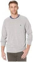 Polo Ralph Lauren Spa Terry Long Sleeve Knit Sweatshirt (Grey Heather) Men's Clothing