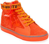 Off-White Off White Men's Tonal Suede Mid-Top Skate Sneakers