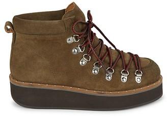 Free People Durango Suede Platform Hiker Boots