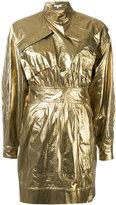 Kenzo metallic military dress - women - Cotton - 36