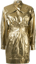 Kenzo metallic military dress - women - Cotton - 38