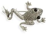 Oscar de la Renta Women's Crystal Pave Frog Brooch