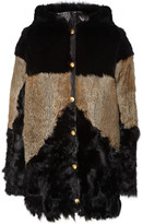 Roger hooded rabbit and shearling coat