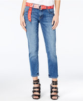 GUESS Belted Cropped Jeans