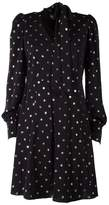 Marc Jacobs Glittered Polka-dot Chiffon Mini Dress