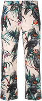 Paul Smith tropical print cropped trousers - women - Cotton/Polyester/Viscose - 38