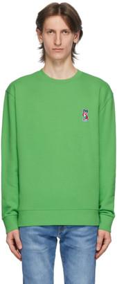 MAISON KITSUNÉ Green ACIDE Fox Patch Sweatshirt