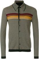 Prada horizontal striped cardigan