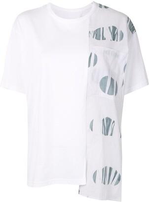 Y's asymmetric short-sleeve T-shirt