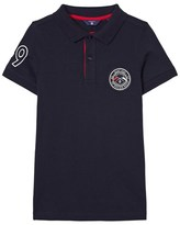 Gant Navy and Red Contrast Collar Polo Shirt