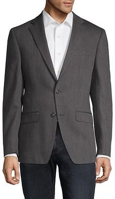 Calvin Klein Extra Slim FitHerringbone Wool Sportcoat