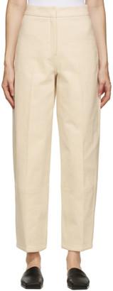 LVIR Beige Twill Cocoon Trousers