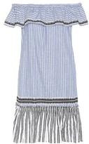 Lemlem Amara Striped Cotton-blend Off-the-shoulder Dress