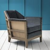 Graham and Green Hoxton Armchair in Grey Velvet