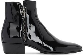 Balmain Anthos Polished Leather Zipped Boots