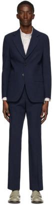 Maison Margiela Navy Crumpled Suit