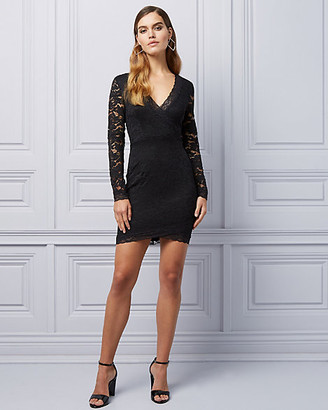 Le Château Lace Cutout Back Cocktail Dress