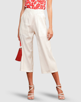 SACHA DRAKE - Women's White Pants - Little Cove Culottes - Size One Size, 10 at The Iconic