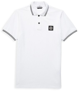 Stone Island Little Boy's & Boy's Stripe-Trim Polo