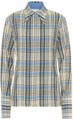 Victoria Beckham Checked virgin wool shirt