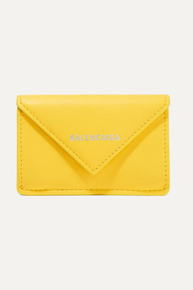 Balenciaga Papier Mini Printed Textured-leather Wallet - Yellow