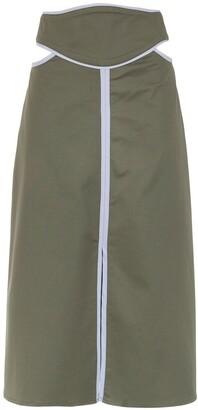 Framed Double Layer midi skirt