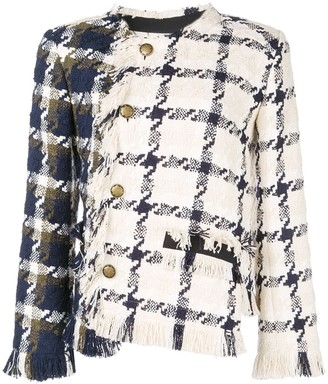 Monse Two-Tone Twisted Tweed Jacket