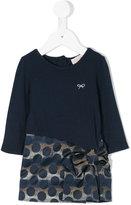 Lili Gaufrette jersey and jacquard dress