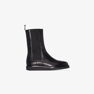 LEGRES black leather Chelsea boots
