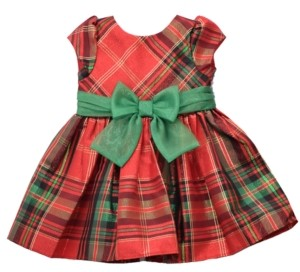 Bonnie Jean Toddler Girls Plaid Waistline Dress