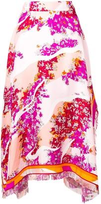 Emilio Pucci Floral Asymmetric Skirt