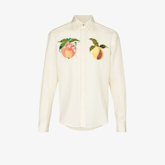 Edward Crutchley Fruit Embroidered Shirt - Men's - Mohair/Wool