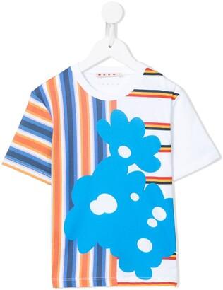 Marni color-block striped T-shirt