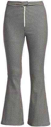 Sandy Liang Gingham Kick Flare Pants