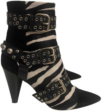Isabel Marant Rolling Black Pony-style calfskin Ankle boots