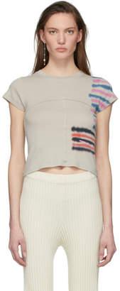 Eckhaus Latta Grey Lapped T-Shirt