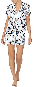 Kate Spade Make Up Print Shorts Pajama Set