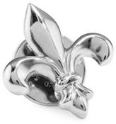 David Donahue Fleur De Lis Sterling Silver Lapel Pin