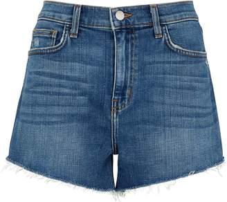 L'Agence Ryland High Waist Denim Shorts