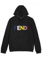 Fendi Black Bouclé-logo Wool Sweatshirt