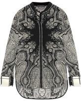 Alexander McQueen Paisley-print Silk Crepe De Chine Blouse - Black