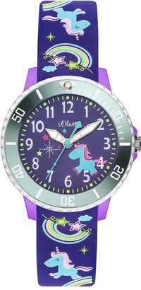 S'Oliver Girls' time Teacher Quartz Watch with Silicone Strap SO-3434-PQ