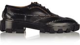 Balenciaga Topstitch Derby Leather Brogues - Black