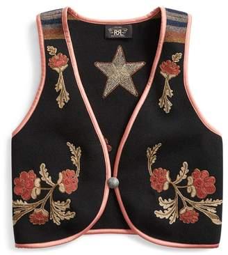 Ralph Lauren Floral Wool-Cashmere Gilet
