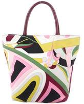Emilio Pucci Leather_trimmed Tote