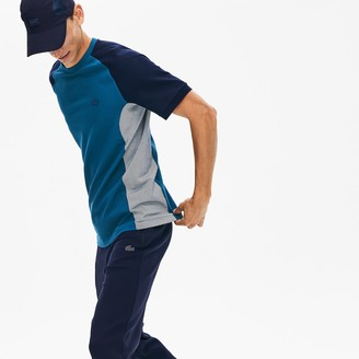 Lacoste Mens Motion Regular Fit Colorblock Cotton-Pique Performance T-shirt