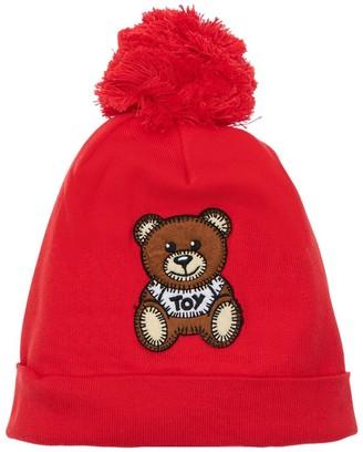 Moschino Cotton Beanie Hat W/ Toy Patch