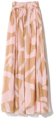 Lee Mathews Estelle Maxi Skirt in Corn Print Pink